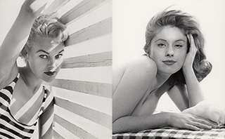 Modell: Jo Anne Aehle + Modell: Judy Tredwell Silbergelatineprint, 25 x 20 cm, 1954 + 1961/62 © Peter Gowland / Zephyr