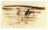 brown ink; undated; 11x28cm